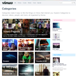 Vimeo Categories Page