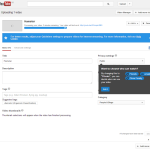 YouTube video settings page
