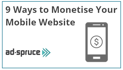 ways to monetise mobile websites